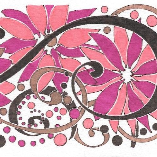 Pink & Brown & Vines #1