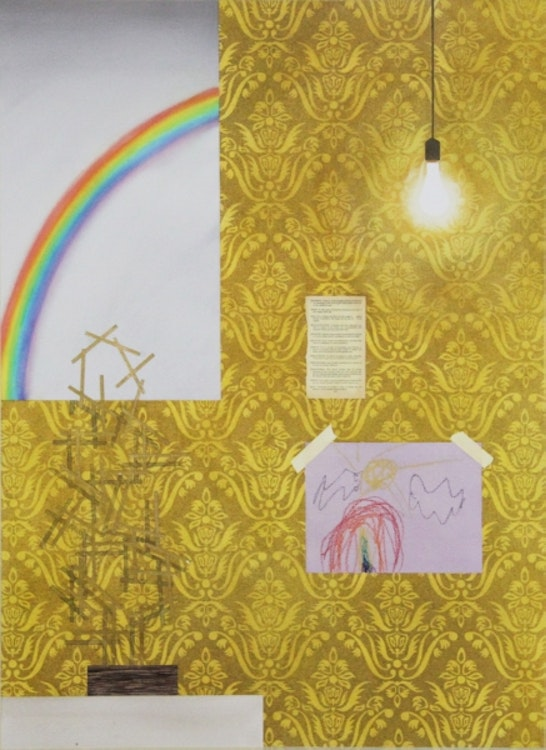 Interior with Three Rainbows
