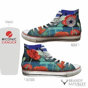 Custom Converse by Brandy Saturley