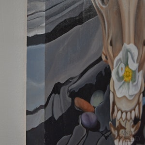 Amarok Rose - Wolf Skull with Wild Rose