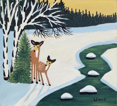 Deer by the Stream