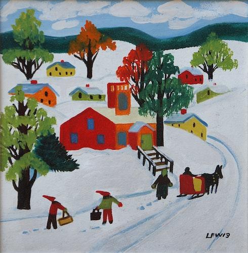 Schoolhouse in Winter