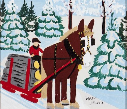 Horse Hauling Logs