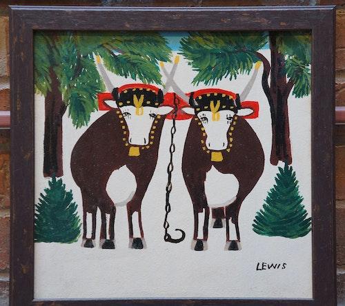 Pair of Oxen in Winter