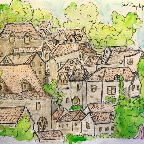 Rooftops in the Loire Valley