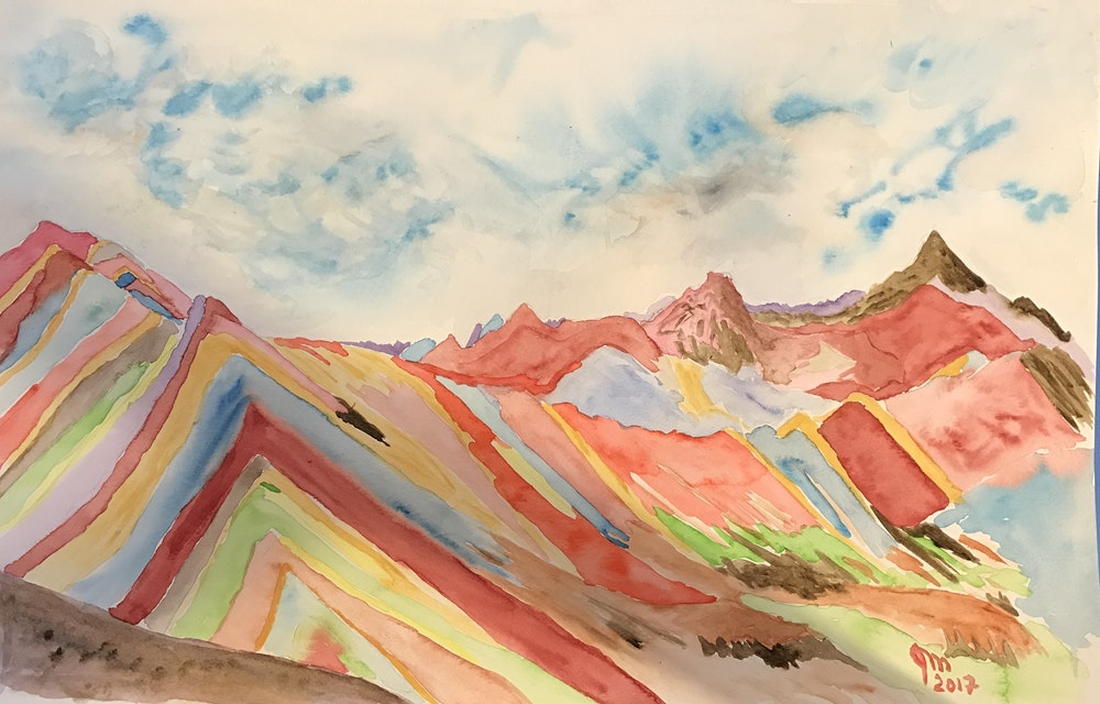 peruvian rainbow mountains #1