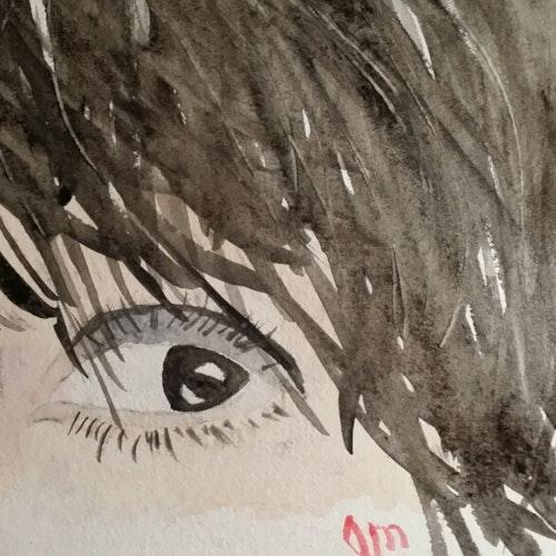dark eyes blazing