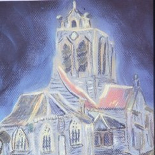 church at auver (after van gogh)