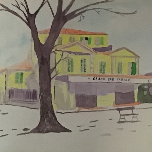 A yellow house in Arles