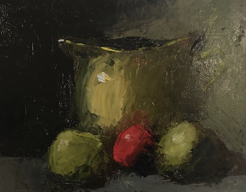 Brass Pot and Apples